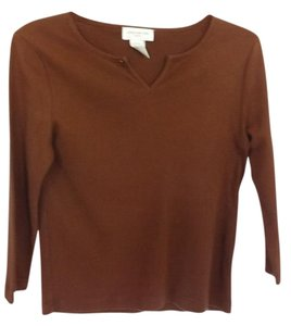 Jones New York Cotton Knit 3/4 Sleeve Sweater