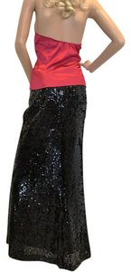 Carmen Marc Valvo Maxi Skirt Black