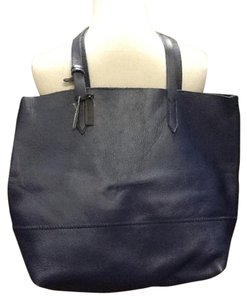 J.Crew Leather Soft Tote in Blue