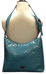 Other Turquoise Woven Shoulder Bag