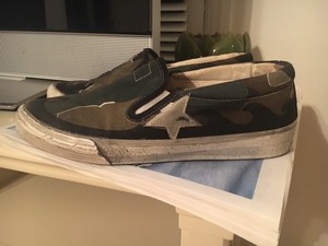 Golden Goose Deluxe Brand Canvas Sneakers Camouflage Athletic