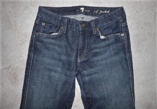 7 For All Mankind Stretchy A Pocket Distressed Lightened Boot Cut Jeans-Distressed Image 2