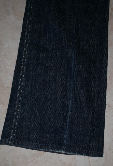 7 For All Mankind Stretchy A Pocket Distressed Lightened Boot Cut Jeans-Distressed Image 5