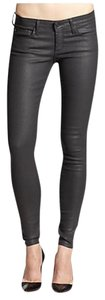AG Adriano Goldschmied Coated Faux Leather Skinny Jeans-Coated