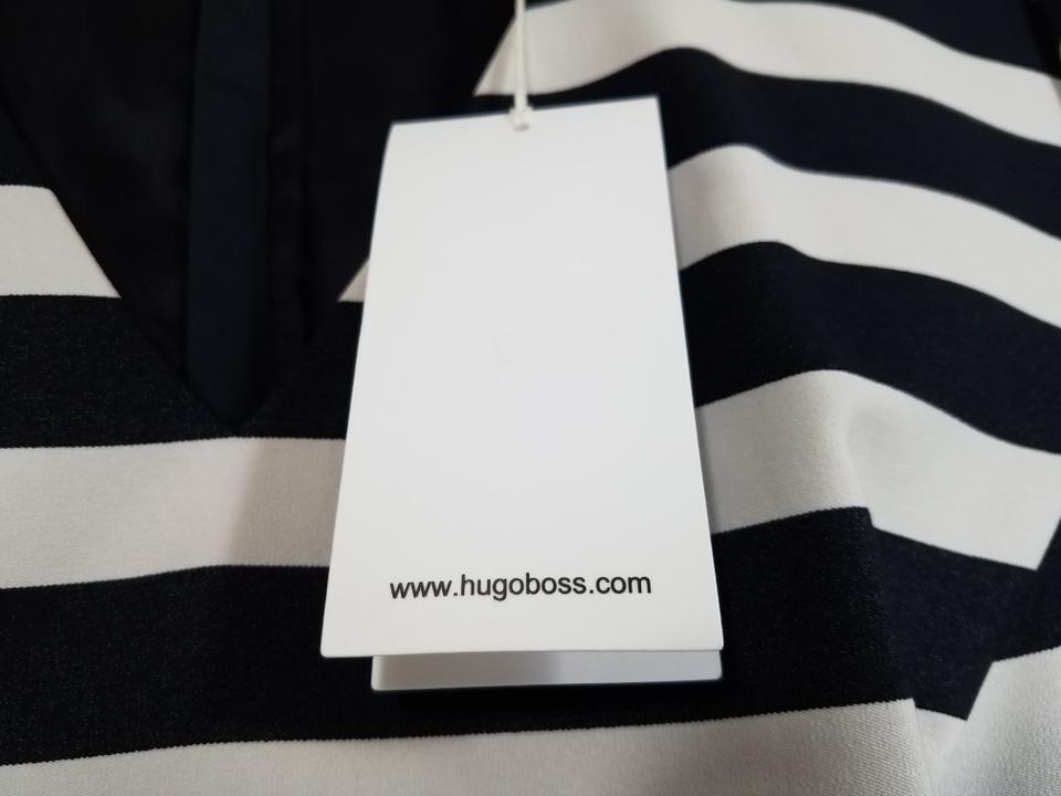 bb8bcc8c90f Boss by Hugo Boss Navy Blue White Hekata Short Casual Dress Size 6 ...
