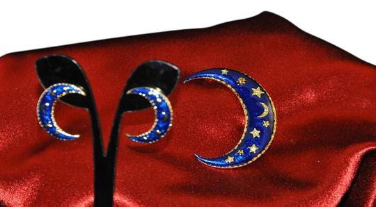 Preload https://img-static.tradesy.com/item/19696259/navy-blue-and-gold-matching-pin-set-crescent-moon-wgold-stars-mn-earrings-0-1-540-540.jpg