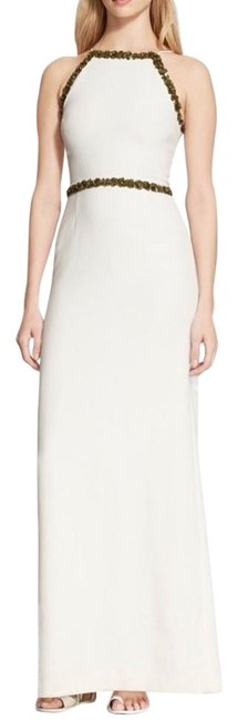 Tory Burch Ivory Embellished Crepe Gown Dress - 65% Off Retail chic