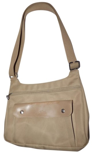 Preload https://img-static.tradesy.com/item/19696353/longchamp-vintage-pursesdesigner-purses-khaki-or-tan-leather-and-heavy-canvas-fabric-nylon-messenger-0-1-540-540.jpg