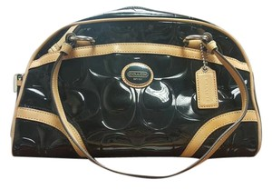 Coach Patent Leather Embossed Signature Shoulder Bag