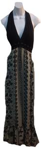 black/beige Maxi Dress by Other