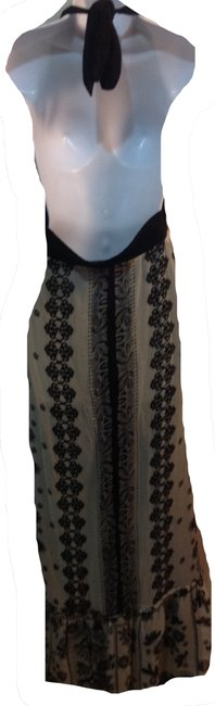 black/beige Maxi Dress by Other Image 1
