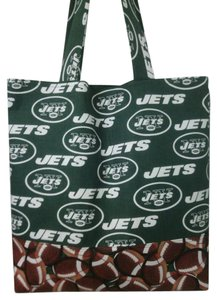 Purses Football Tote in Green