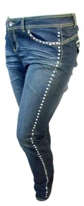 House of Deréon Distressed Studded Wash Skinny Jeans