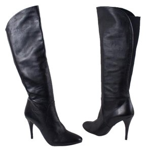Stuart Weitzman Leather Knee High Tall Black Boots