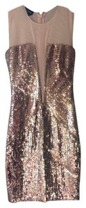 bebe Gold Sparkle Dress