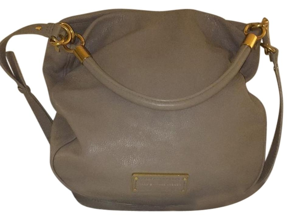 e1587ac4f62c Marc by Marc Jacobs Too Hot To Handle Cement Leather Hobo Bag - Tradesy