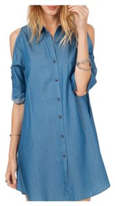 Other short dress Medium Blue Denim Cold Bohemian Free People Loose Fit on Tradesy