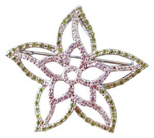 Victoria Townsend Sterling Silver CZ brooch