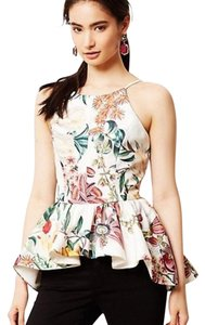 Anthropologie Peplum Cameo Top Floral