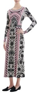 Temperley London Long Sleeve Maxi Printed Maxi Bodycon Party Wear Chic Dress