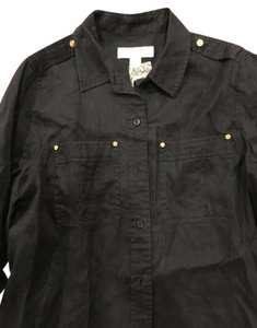 Michael Kors Button Down Shirt Dark Grey