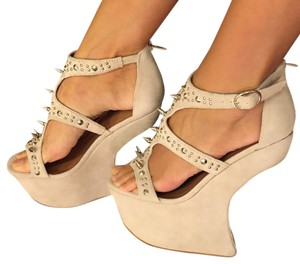 Jeffrey Campbell Light Gray, Nude Wedges