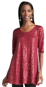 Eileen Fisher Top Burgundy Red