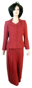 Leslie Fay Leslie Fay Two-Piece Pleated Skirt Suit Sz 10P