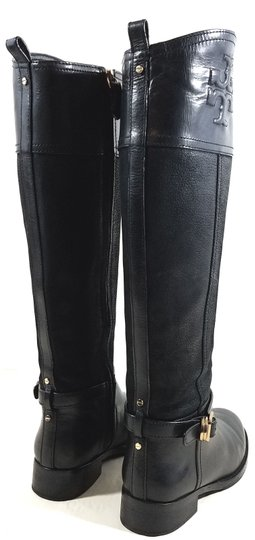 Tory Burch Leather Textile Lining Rubber Sole S/N 32148403 Black Boots Image 7