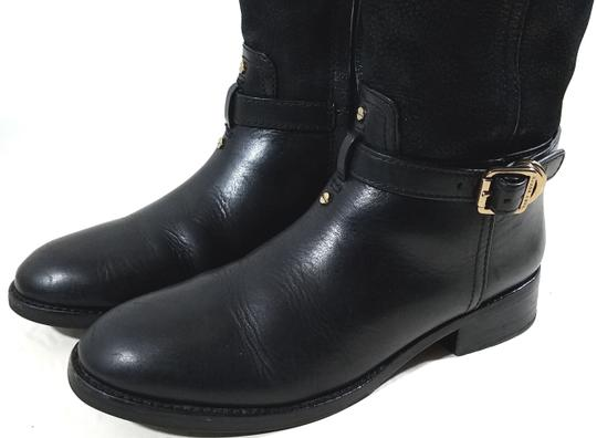 Tory Burch Leather Textile Lining Rubber Sole S/N 32148403 Black Boots Image 8