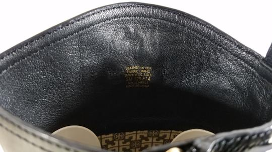 Tory Burch Leather Textile Lining Rubber Sole S/N 32148403 Black Boots Image 9