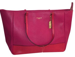 Coach Tote in Red/Pink