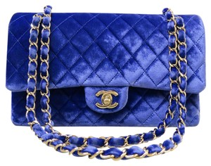 Chanel Blue Cf Classic Shoulder Bag
