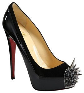 Spiked Christian Louboutins Black with silver studs Platforms