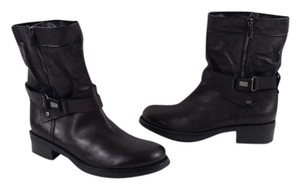 Aquatalia by Marvin K. Italy Moto Leather Black Boots