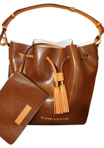 Dooney & Bourke Satchel in Brown with White Interior