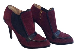 L.K. Bennett Classic Suede Leather Detail Bordeaux Boots