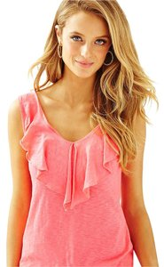 Lilly Pulitzer Puliter Coral Tank T Shirt