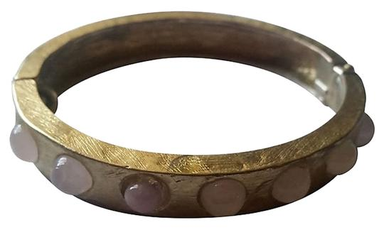 Other Pink Gripoix Cabochon Clamper Bangle