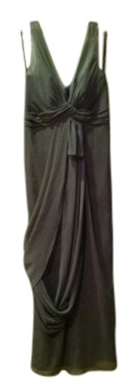 Preload https://item4.tradesy.com/images/vera-wang-graphite-grey-polyester-v-neck-sleeveless-chiffon-column-formal-bridesmaidmob-dress-size-1-19698-0-1.jpg?width=440&height=440