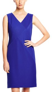 Anne Klein Sleeveless Rotating Rib Sheath Dress
