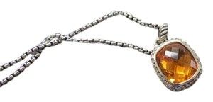 David Yurman Noblesse Citrine/Pave' Diamond Pendant; 18