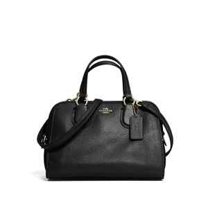 Coach Nolita Leather Satchel in Black