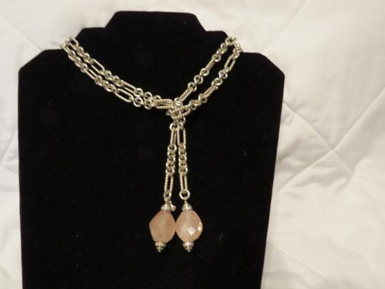 Preload https://img-static.tradesy.com/item/19698247/david-yurman-silverpink-rose-quartz-with-diamonds-figaro-37-lariat-necklace-0-2-540-540.jpg