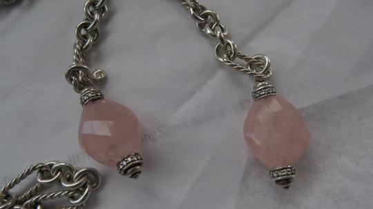 David Yurman Rose Quartz with Diamonds Figaro 37