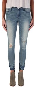 Black Orchid Denim Capri/Cropped Denim-Distressed