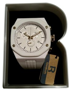 Reebok New Reebok Swag Crisp White and Gold Tone Chronograph Watch