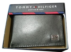 Tommy Hilfiger NEW TOMMY HILFIGER MEN'S BLACK PASSCASE and VALET LEATHER WALLET
