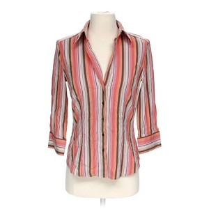 Express Button Up Work Top Multi