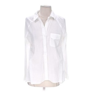 Express Button Down Work Top White
